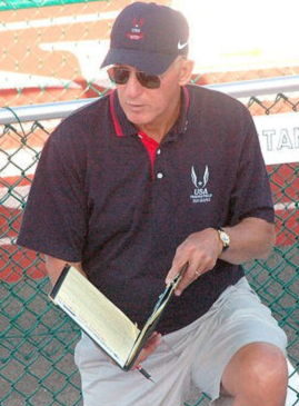 Tom Priester has been officiating track and field meets for more than 30 years.