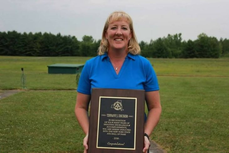 Tiffany Decker was inducted into the New York State Amateur Trapshooting Association Hall of Fame..