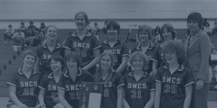 1979 Southwestern Central School girls basketball team.