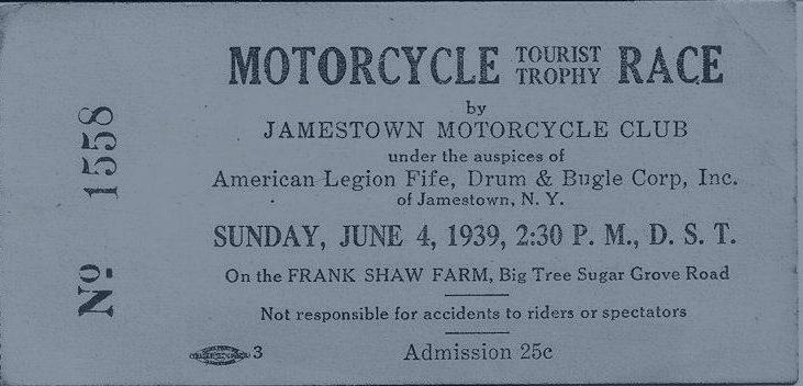 motorcycle race ticket