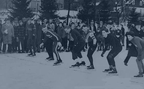 Ice skate race