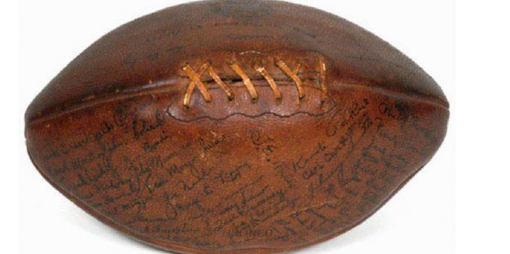 1928 football signed by Gene Mahoney.
