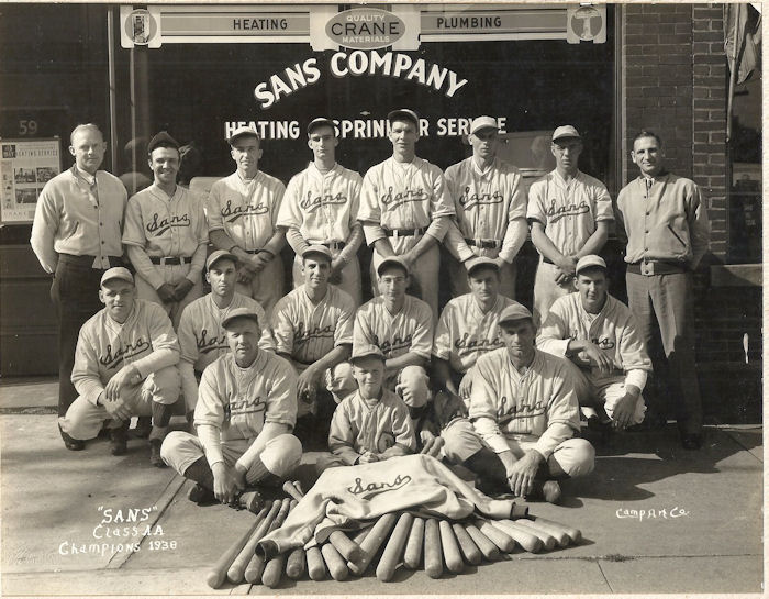 1938 Sans Co. baseball team