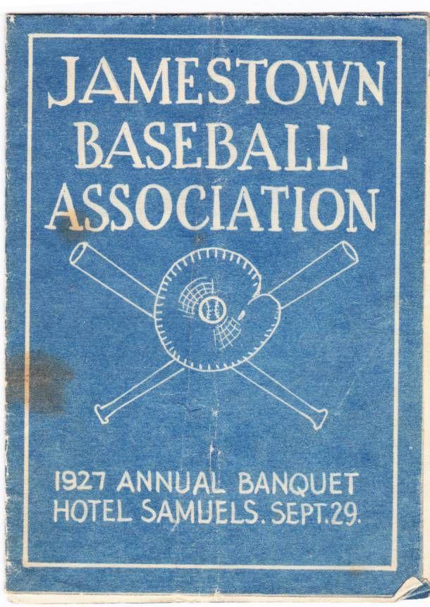 1927 Jamestown Baseball Association banquet program
