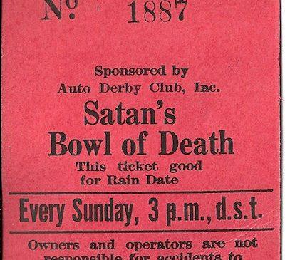 Satan's Bowl of Death ticket