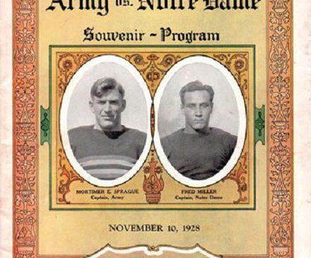 Army vs Notre Dame program