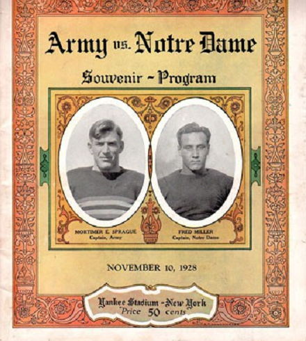 Army vs Notre Dame program
