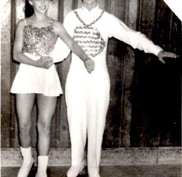 Joel Wilcox and Kathy Kroto on roller skates