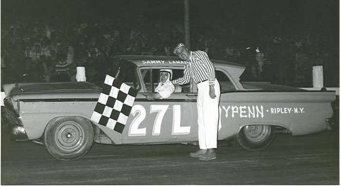Sammy LaMancuso gets the checkered flag.