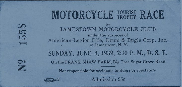 motorcycle race ticket