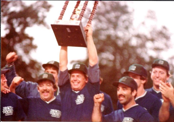 1984 Jock Shop softball team wins national title.