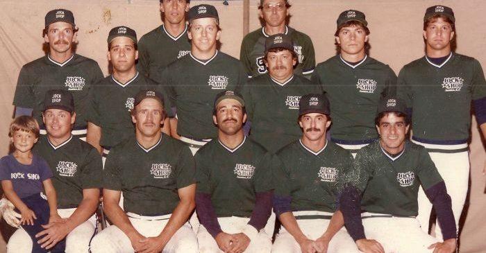 1984 Jock Shop softball team