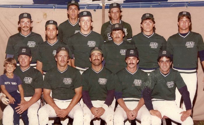 1984 Jock Shop softball team