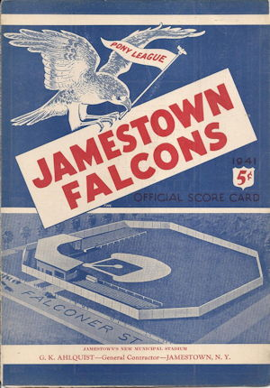 Jamestown Falcons 1941 program