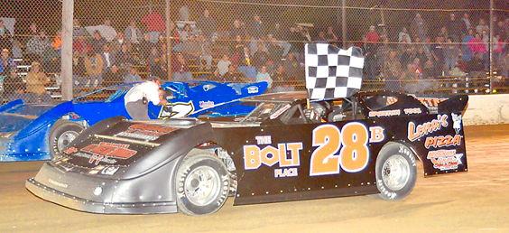 Dick Barton takes a victory lap.