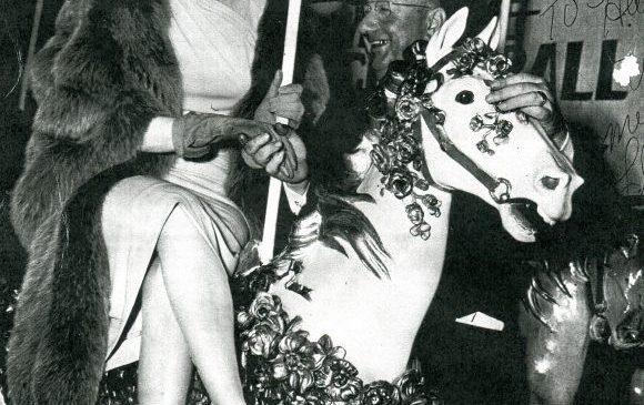 Lucille Ball on Celoron Park carousel.