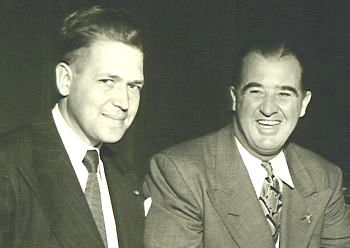 John Jachym, left, and Happy Chandler.