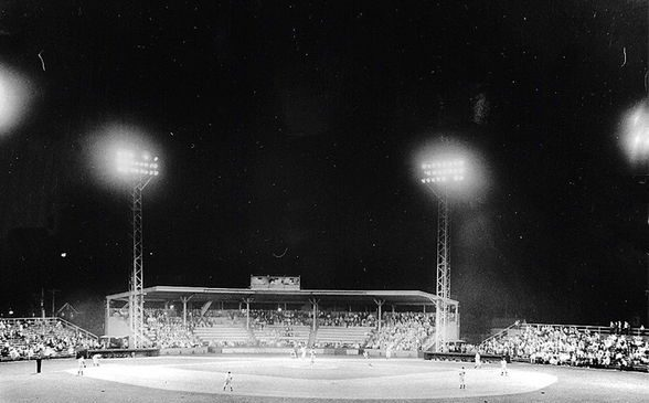 Municipal Stadium from outfield