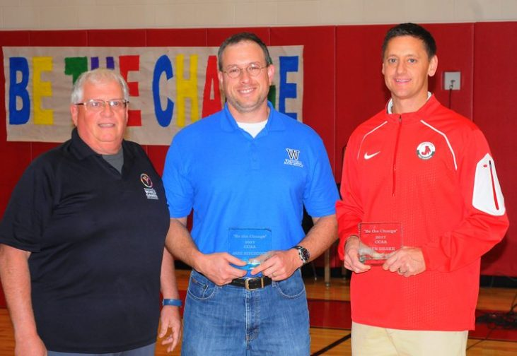 """Be The Change"" awards presented to Jake Hitchcock and Ben Drake."