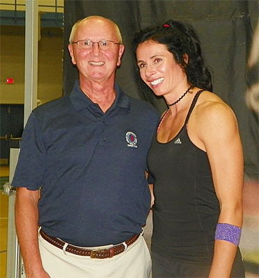 Jenn Suhr and Randy Anderson.