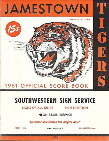 Jamestown Tigers, 1961.