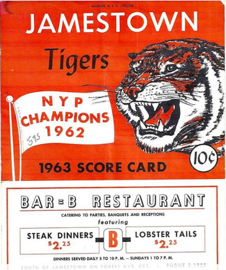 Jamestown Tigers, 1963.