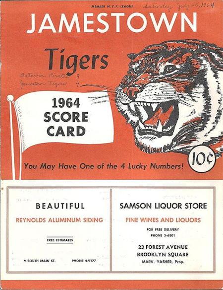 Jamestown Tigers, 1964.
