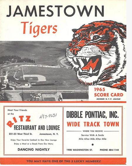 Jamestown Tigers, 1965.