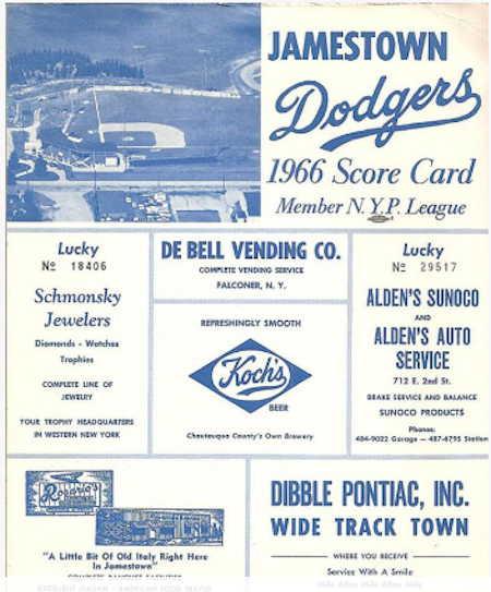 1966 Dodgers program