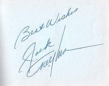 Jack Twyman autograph