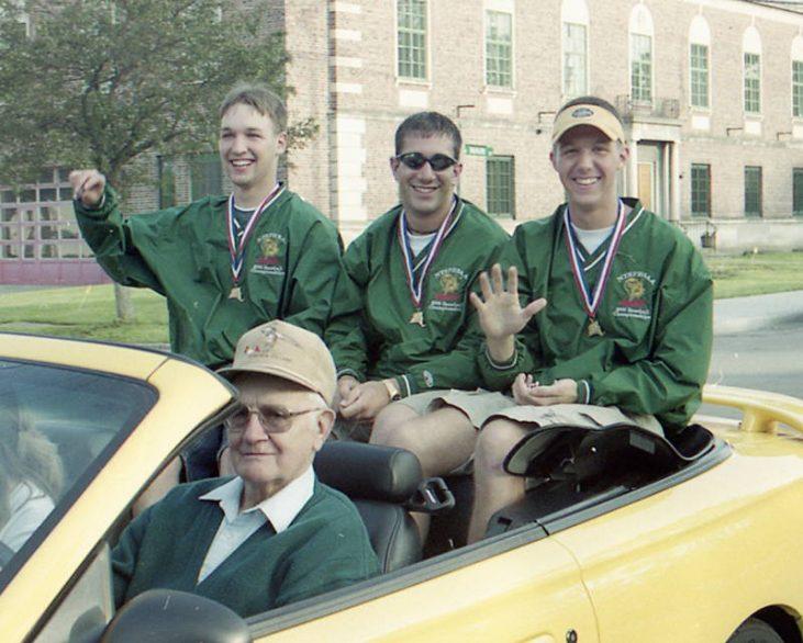 alconer baseball team members Jason DeStevens, Joe Morris and Brad Peterson