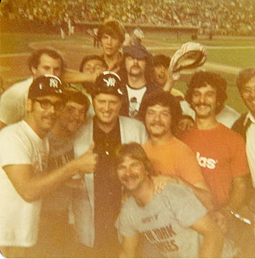 Dave Polechetti and a group of Dunkirk-Fredonia friends