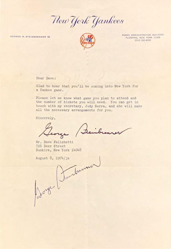 Letter from Steinbrenner