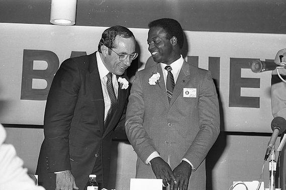 Mario Cuomo and Lou Brock.