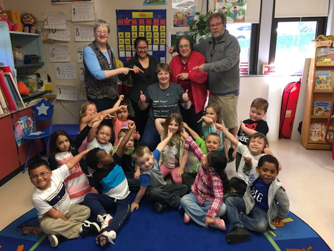 Christina Kebort with her UPK class.