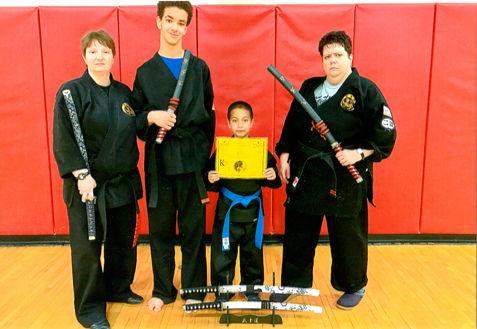 Members of the Kebort's Karate Tigers.