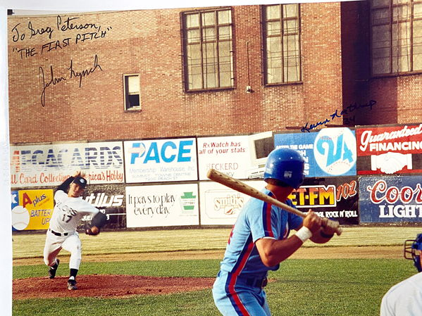 John Lynch pitches for Erie Sailors
