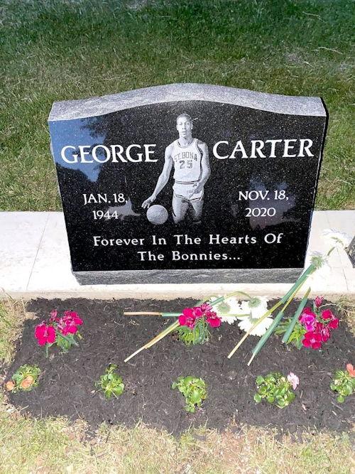 George Carter's grave marker.