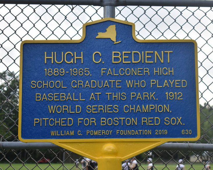 Hugh Bedient historic marker